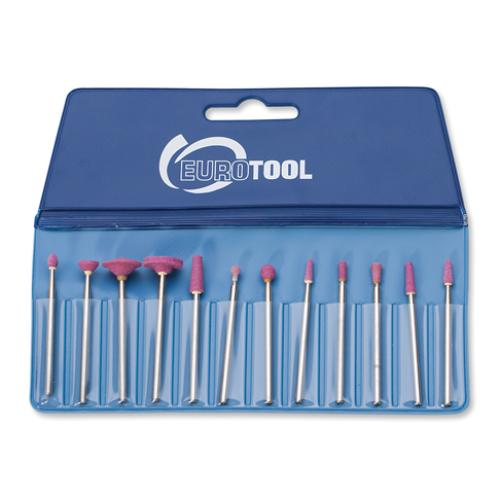 Eurotool Red Stone Abrasives 12 pc Set