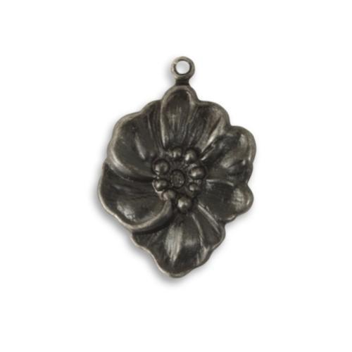 Vintaj Arte Metal 27.5x19mm Nouveau Floret Pendant