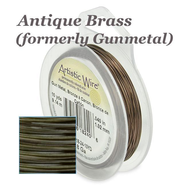 Artistic Wire 28ga Antique Brass (formerly Gunmetal) 40 yd (36.58m) Retail Spool