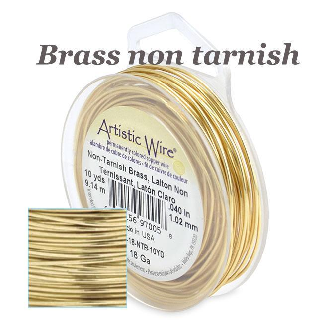Artistic Wire 30ga Non-Tarnish Brass 50 yd (45.72m) Retail Spool