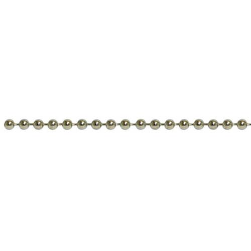 Stainless Steel 2.4mm Ball Bead Chain per foot (30cm) (USA)