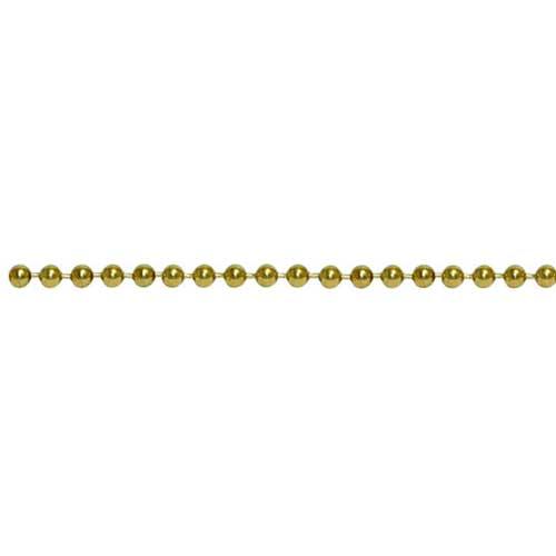 Brass 2.1mm Ball Bead Chain per ft - 30cm