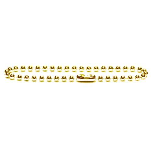 Brass 2.4mm Ball Bead Chain Keychain 4 inch x1