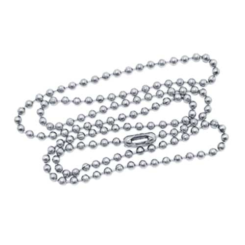 Stainless Steel 2.4mm Ballchain Bead Ball Chain Necklace 20 inch x1 (USA Military/non-plated)