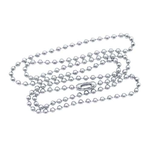 Aluminium 2.1mm Ballchain Bead Ball Chain Necklace 20 inch x1