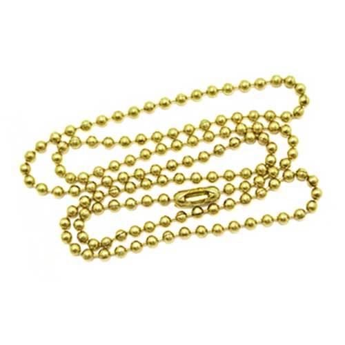 Brass 2.4mm Ballchain Bead Ball Chain Necklace 20 inch x1
