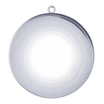 Sterling Silver 35mm Round Bezel Mount Setting with ring x1
