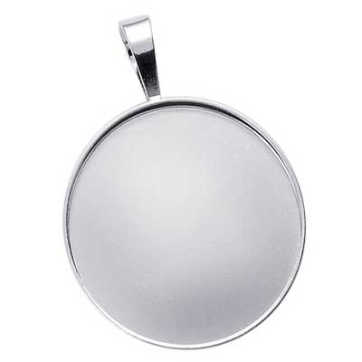 Sterling silver 30mm round bezel mount pendant setting x1 uk sterling silver 30mm round bezel mount pendant setting with bail x1 mozeypictures Image collections