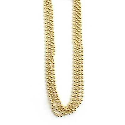 ImpressArt Brass 2mm Ball Bead Chain Necklace 24 inch 2-pack