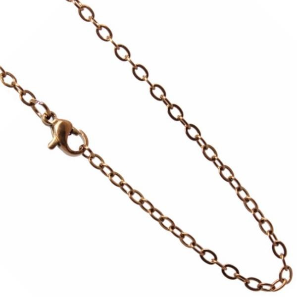 Stainless Steel **mm Cable Chain Necklace 20 inch (51cm) Bronze x1