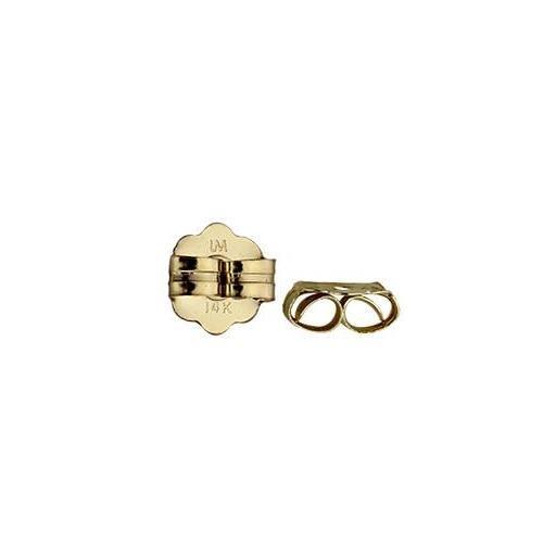 14kt Gold 4.5x4.3mm Butterfly Clutch x1pr