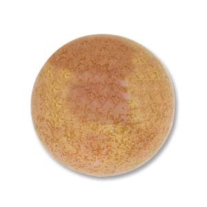 Cabochon Czech Glass 18mm Round - Pink Coral Lumi x1