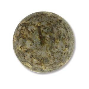 Cabochon Czech Glass 18mm Round - Travertine x1