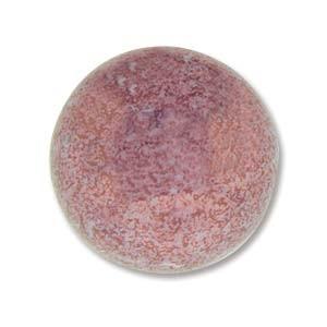 Cabochon Czech Glass 18mm Round - Purple Lumi x1