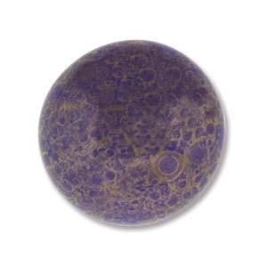 Cabochon Czech Glass 18mm Round - Lapis Lumi x1