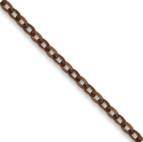 Vintaj Natural Brass 2.2x3.0mm Delicate Flat Oval (Closed Link) per half foot