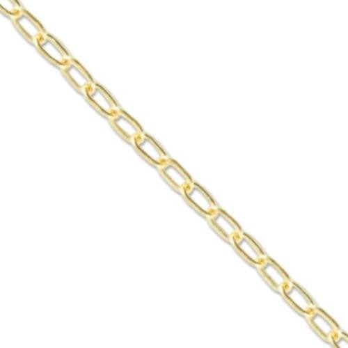 Vintaj Vogue Solid Brass Delicate Cable Chain 1.7x3.2mm (soldered link) per half foot