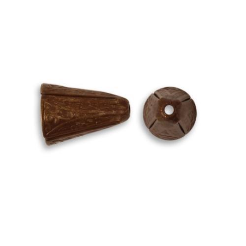 Vintaj Natural Brass 14x10mm Ornate Cone End Cap x1