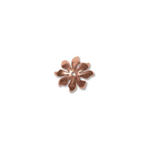Pure Copper Flower Style 10mm Bead Caps x1
