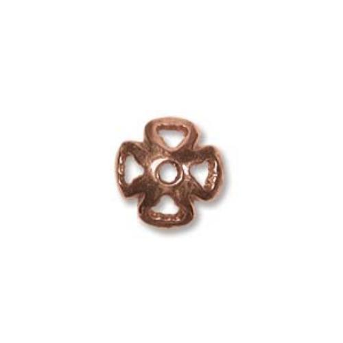 Pure Copper 4 Petal Style 8mm Bead Caps x1