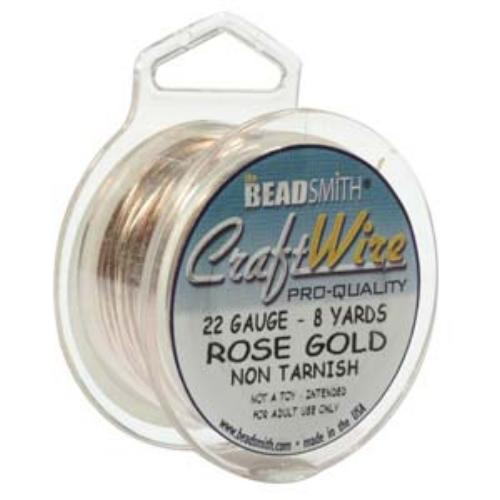 Beadsmith Jewellery Wire 22ga Rose Gold per 8yd Spool