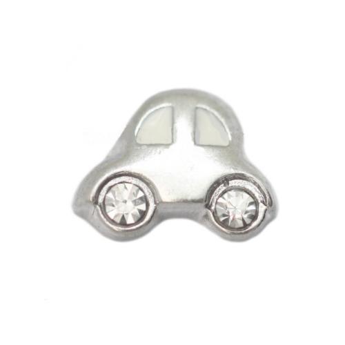 Floating Living Locket Charms, Crystal Rhinestone Beetle Car