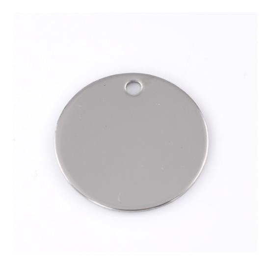 Stainless Steel Circle 20mm 20g Stamping Blank x1