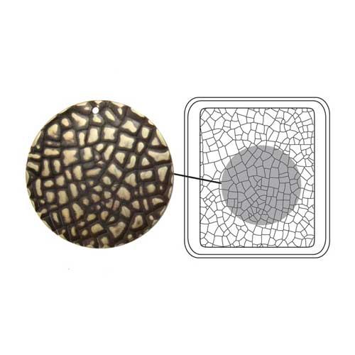 Vintaj Natural Brass - Sizzix DecoEtch Die - Crackle Texture