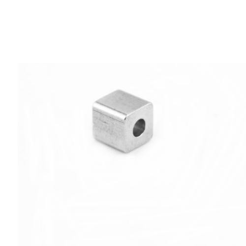 Stainless Steel Square Cube Beads 5mm Stamping Blank x1