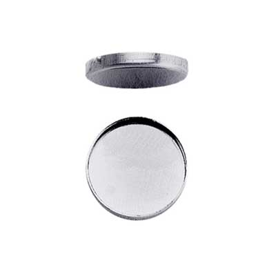 Sterling Silver 24mm Round Plain Cup Bezel Mount Setting x1