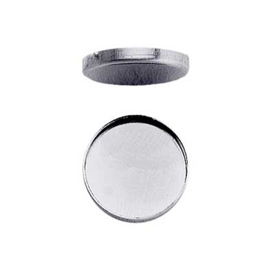 Sterling Silver 25mm Round Plain Cup Bezel Mount Setting x1