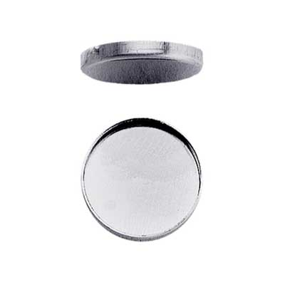 Sterling Silver 30mm Round Plain Cup Bezel Mount Setting x1