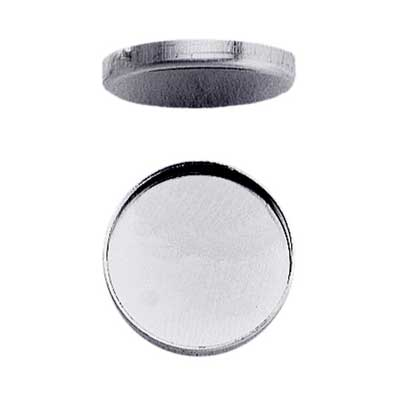 Sterling Silver 38mm Round Plain Cup Bezel Mount Setting x1
