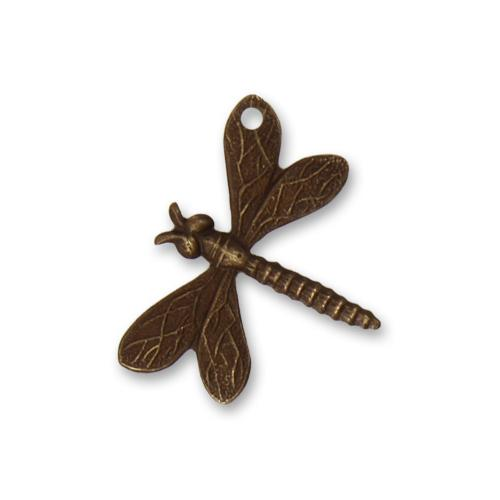 Vintaj Natural Brass 18x22mm Drifting Dragonfly (hole top right wing) Charm x1
