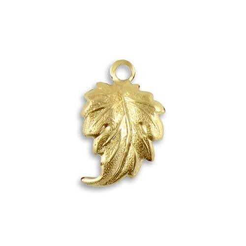 Vintaj Vogue Brass 21x13.5mm Whimsical Leaf x1