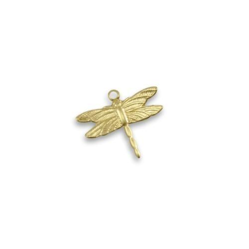 Vintaj Vogue Brass 13x15mm Petite Dragonfly x1