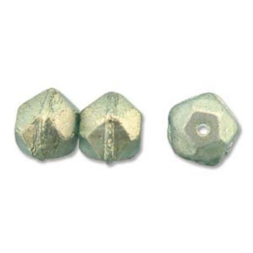 Czech Glass Antique English Cut Beads - 10mm Halo Sky x1 Strand (15pc)