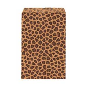 Paper Gift Bags 9x6 inch 230x150mm Leopard x50