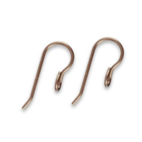 Vintaj Natural Brass Modern French 8.5x20mm Earhook Wires x1pr
