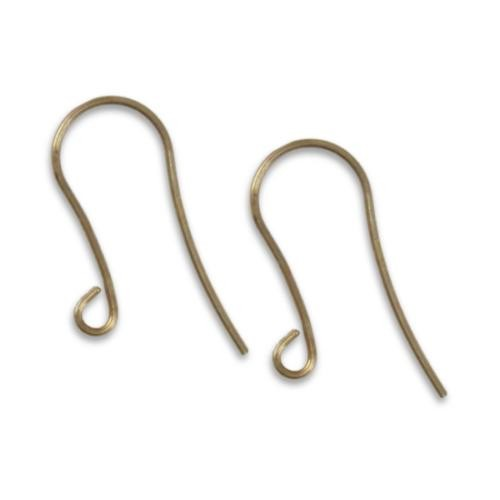 Vintaj Natural Brass Arched 14x29mm Earhook Wires x1pr