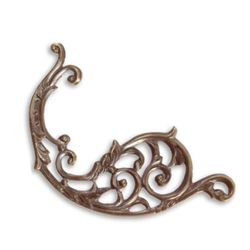 Vintaj Natural Brass 46x21mm Deco Layering Filigree x1