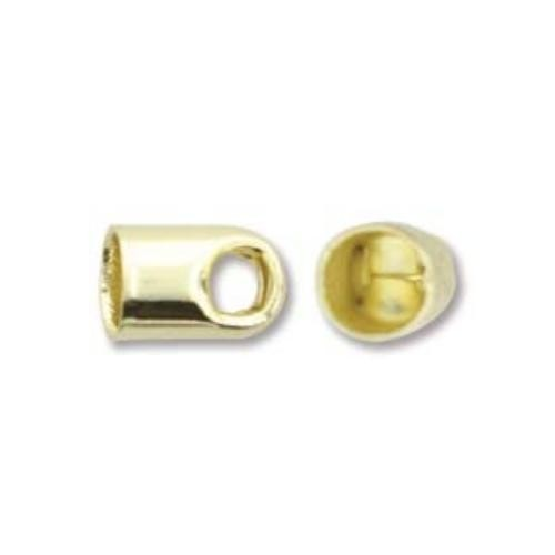 Kumihimo Findings 5x8mm Gold Plated End Caps x 2pc