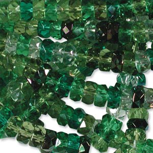 Czech Glass Fire Polished beads - 6/3mm Rondelle Evergreen x60