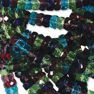 Czech Glass Fire Polished beads - 6/3mm Rondelle Gemtones x60