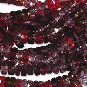 Czech Glass Fire Polished beads - 6/3mm Rondelle Vineyard x60