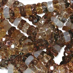Czech Glass Fire Polished beads - 6/3mm Rondelle Honey Butter x60