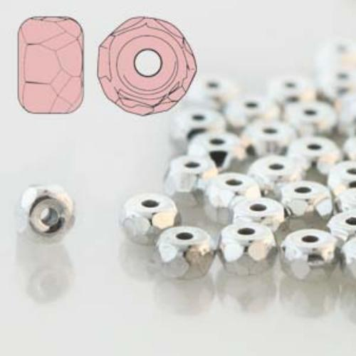 Czech Glass Fire Polished Micro Spacer Beads 2x3mm Full Labrador x50pc