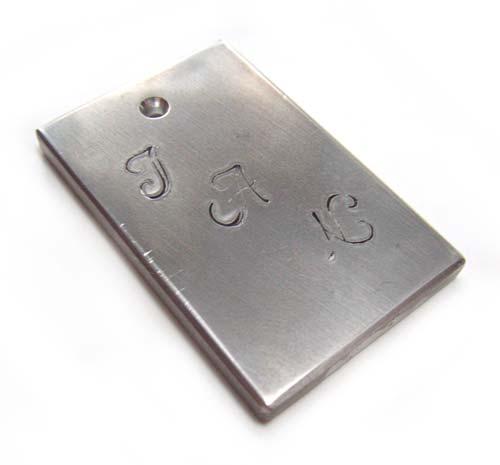 Aluminium 30mm Flat Bar Pendant Stamping Blank