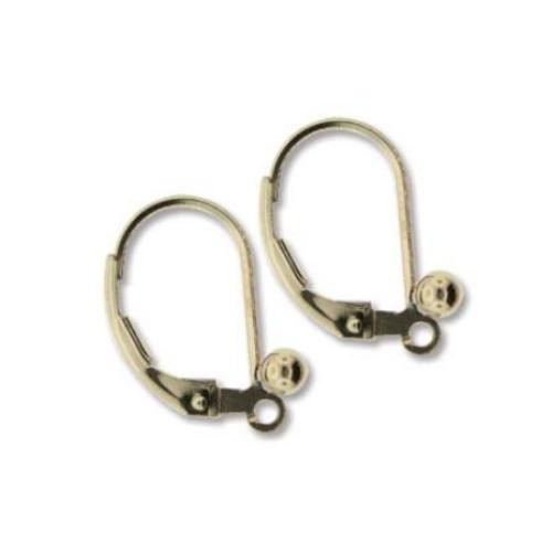 Gold Filled 3mm Ball 16x11mm  Leverback Earrings x1pr