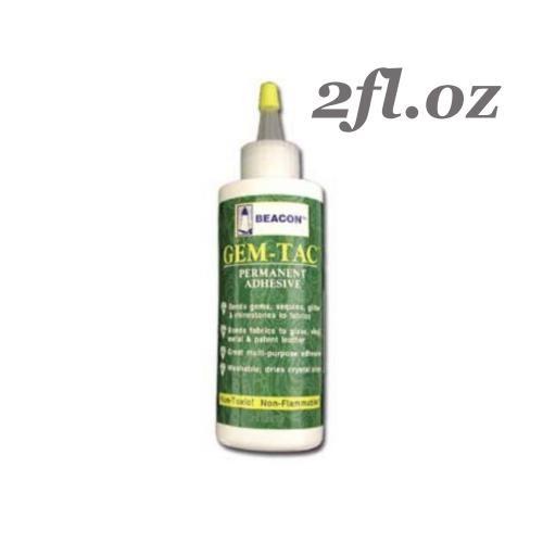 Beacon Gem Tac Fabric Glue Adhesive 2fl.oz (59ml)